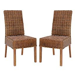 Safavieh Sanibel Side Chair - Light Brown (Set of 2)