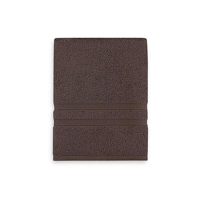Alternate image 1 for Wamsutta® Ultra Soft MICRO COTTON® Hand Towel in Chocolate