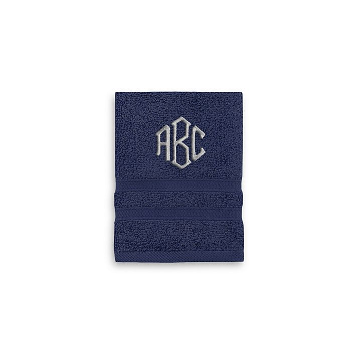Alternate image 1 for Monogrammed  Wamsutta®   Ultra Soft MICRO COTTON Washcloth
