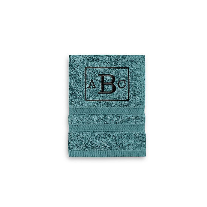 Alternate image 1 for Wamsutta® Personalized Ultra Soft MICRO COTTON Washcloth in Teal
