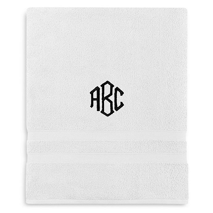 Alternate image 1 for Wamsutta® Personalized Ultra Soft MICRO COTTON Bath Sheet in White