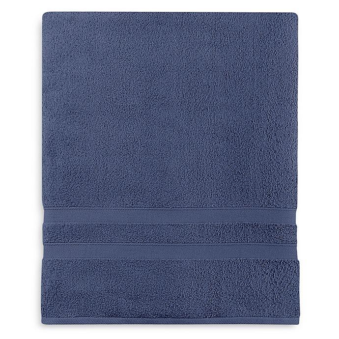 Alternate image 1 for Wamsutta® Ultra Soft MICRO COTTON® Bath Sheet in Denim Blue