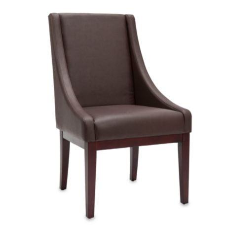 Safavieh Sloping Arm Chair In Brown Leather Bed Bath