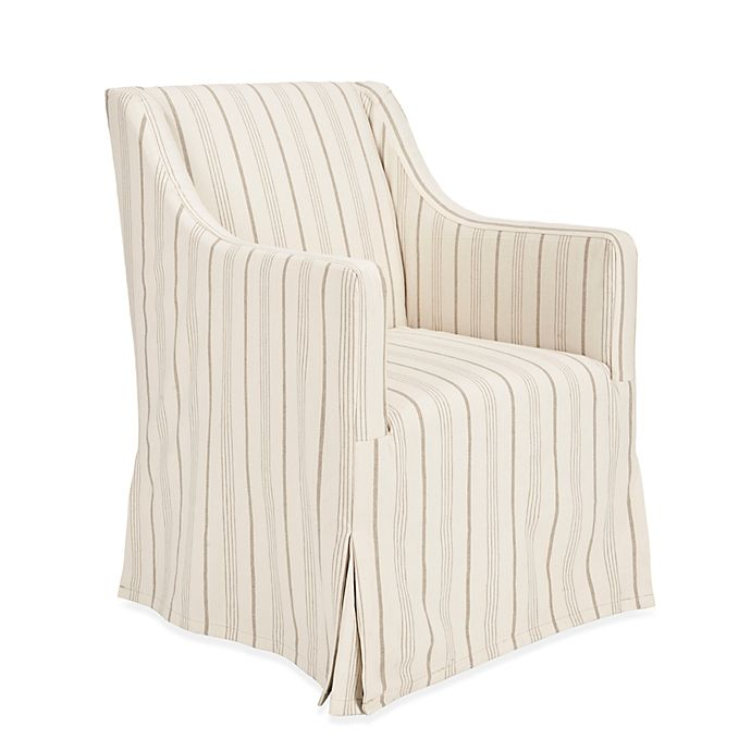 Outstanding Safavieh Sandra Linen Slipcover Chair In Beige Stripe Bed Unemploymentrelief Wooden Chair Designs For Living Room Unemploymentrelieforg
