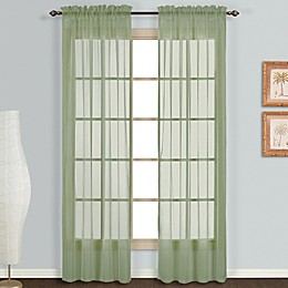 Monte Carlo Sheer Voile Rod Pocket Window Curtain Panel Pair