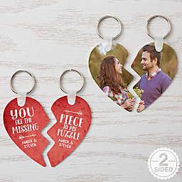 The Missing Piece Break Apart Heart Keychains
