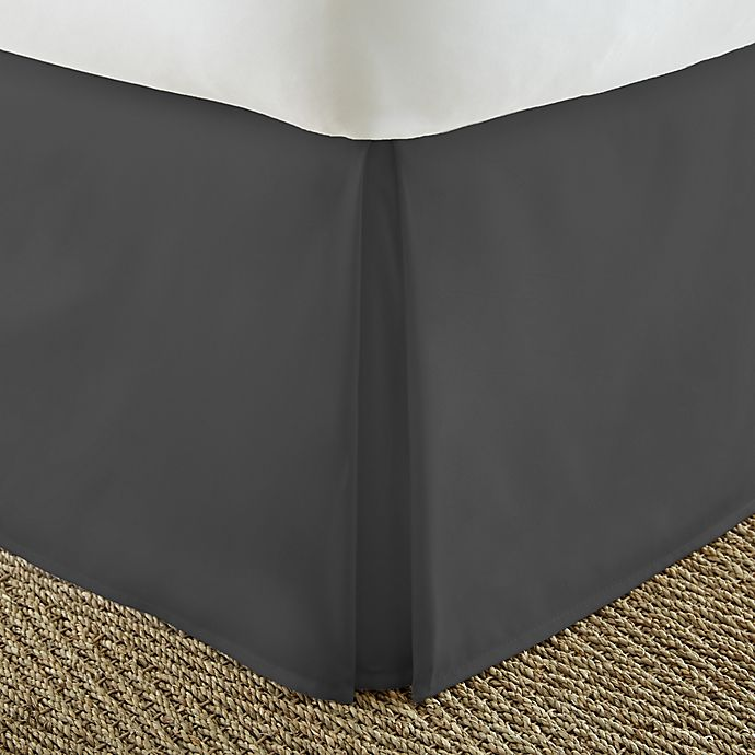 Alternate image 1 for Home Collection Pleated King Bed Skirt in Black