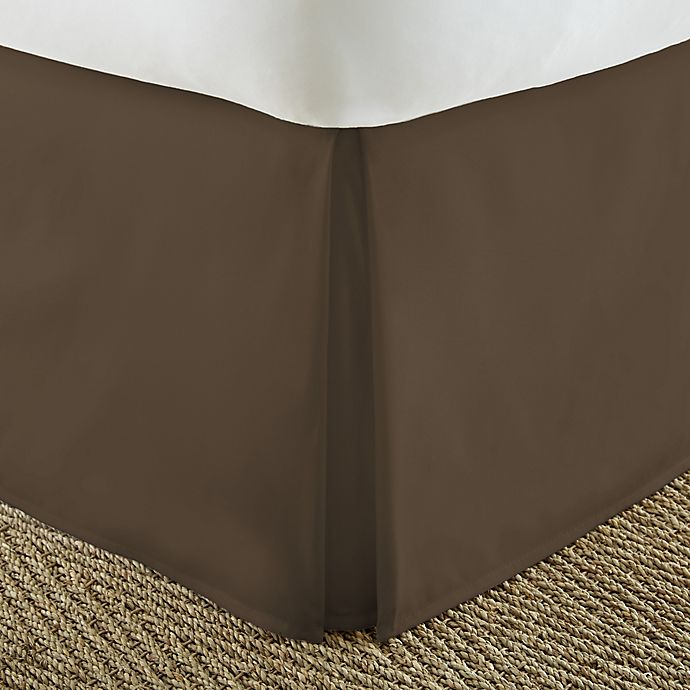 Alternate image 1 for Home Collection Pleated California King Bed Skirt in Chocolate