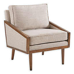 INK+IVY Clooney Upholstered Accent Chair in Tan