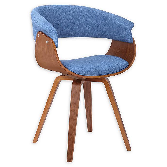 Alternate image 1 for Armen Living® Linen Upholstered Summer Chair in Blue