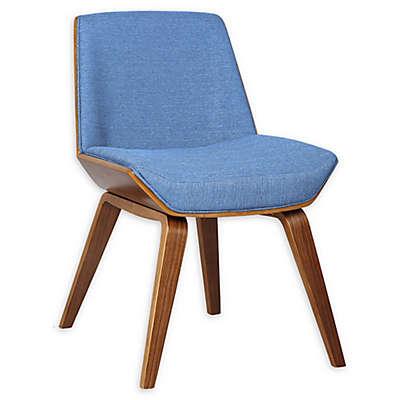 Armen Living® Linen Upholstered Agi Chair in Blue