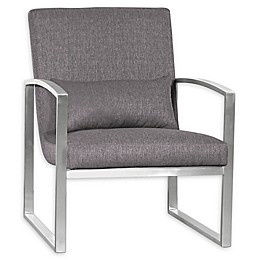 Armen Living® Leonard Chair in Grey