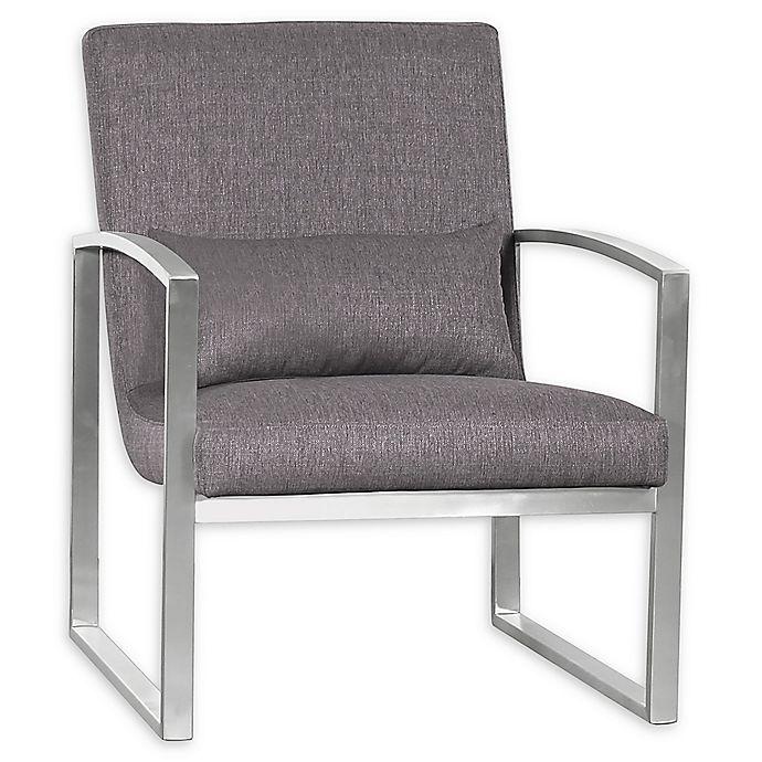 Alternate image 1 for Armen Living® Leonard Chair in Grey