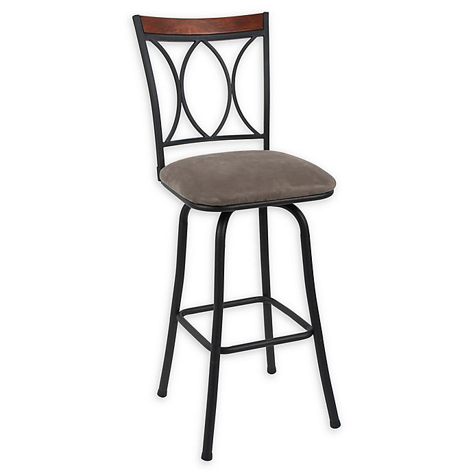 Outstanding Microfiber Swivel 29 Inch Bar Stools In Black Set Of 2 Pdpeps Interior Chair Design Pdpepsorg