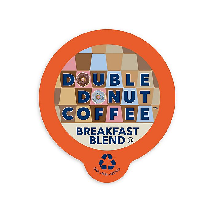 Alternate image 1 for Double Donut Coffee™ Breakfast Blend Coffee Pods for Single Serve Coffee Makers 80-Count