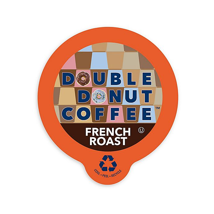 Alternate image 1 for Double Donut Coffee™ French Roast Coffee Pods for Single Serve Coffee Makers 80-Count