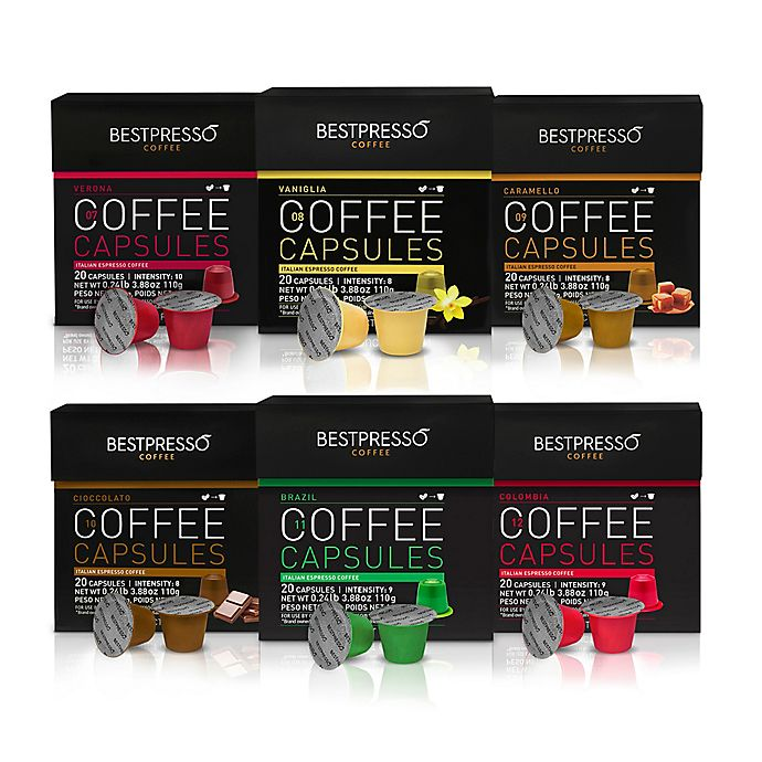 Alternate image 1 for BESTPRESS0 120-Count Variety Pack Espresso/Coffee Capsules