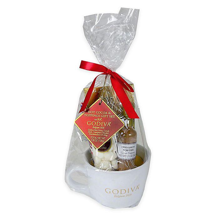 Alternate image 1 for Godiva® Hot Cocoa and Toppings Mug Gift Set