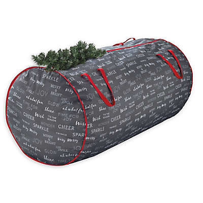 Real Simple® Holiday Deluxe Christmas Tree 58-Inch Storage Bag in Grey Print