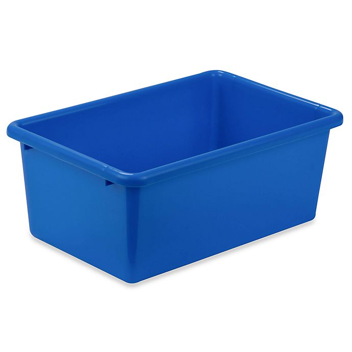 Alternate image 1 for Honey-Can-Do® Small Plastic Storage Bin in Blue