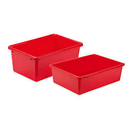 Honey-Can-Do® Plastic Storage Bin in Red