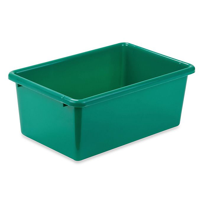 Alternate image 1 for Honey-Can-Do® Small Plastic Storage Bin in Green