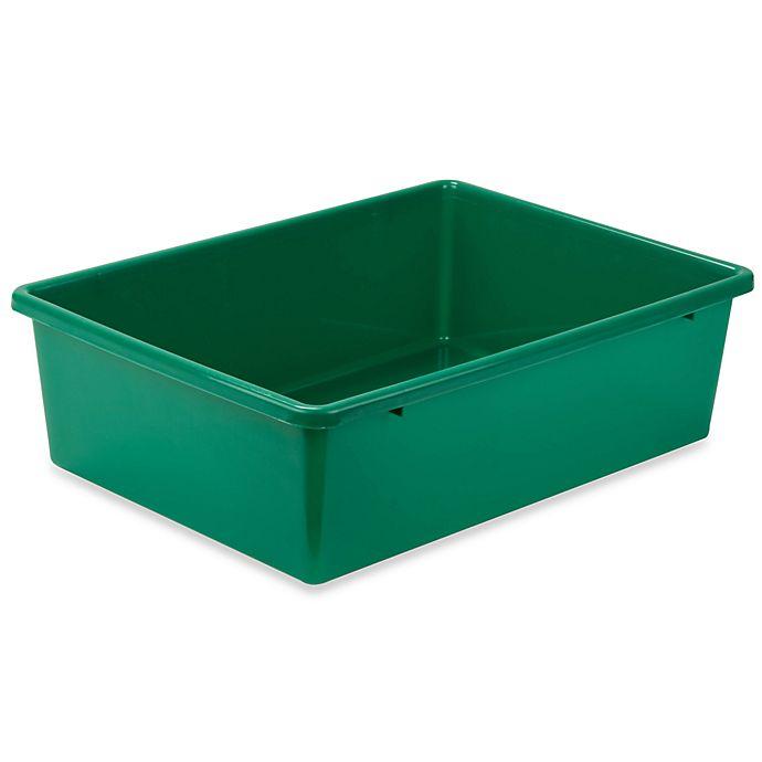 Alternate image 1 for Honey-Can-Do® Large Plastic Storage Bin in Green