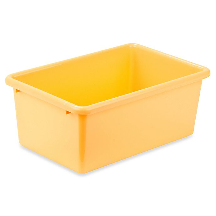 Alternate image 1 for Honey-Can-Do® Small Plastic Storage Bin in Yellow