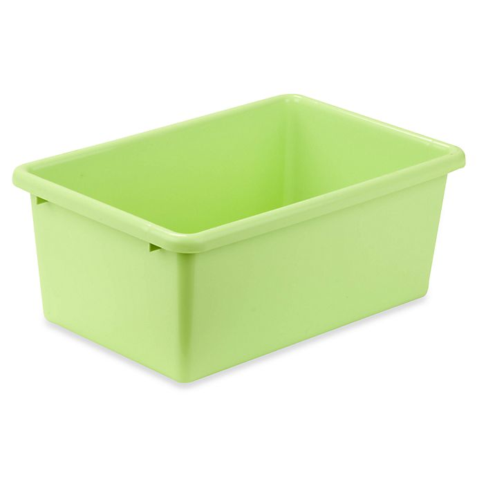 Alternate image 1 for Honey-Can-Do® Small Plastic Storage Bin in Light Green