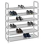 Studio 3B™ 6-Tier Fabric Shoe Rack in Grey