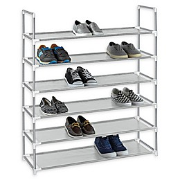 6-Tier Fabric Shoe Rack in Grey