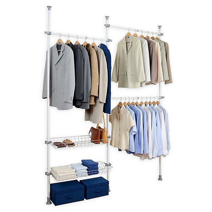 Alternate image 1 for Wenko Herkules 2-Tier Telescopic Duo Closet Organization System