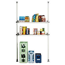 Wenko Herkules 2-Tier Telescopic Twin Shelf Closet Organization System