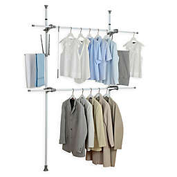 Wenko Herkules 2-Tier Telescopic Flex Closet Organization System