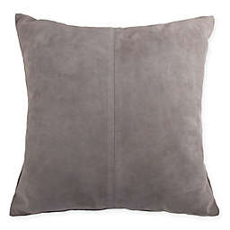 Kenneth Cole Thompson Suede Square Throw Pillow in Stone