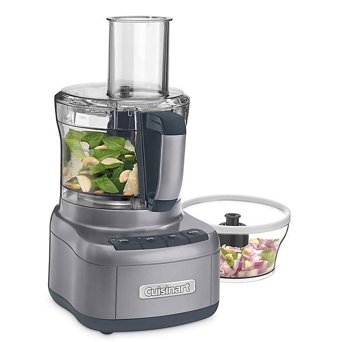Alternate image 1 for Cuisinart® Elemental 8-Cup Food Processor with 3-Cup Bowl in Gunmetal