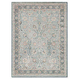 Magnolia Home by Joanna Gaines Ella Rose Rug in Light Blue/Dark Blue
