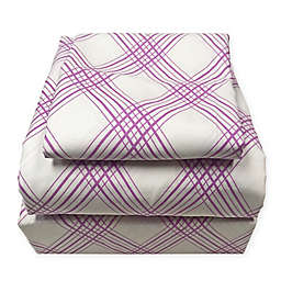 American Colors Emily Madison Plaid Standard Pillowcases in Purple (Set of 2)