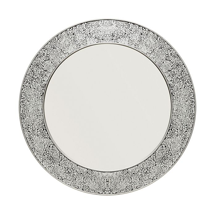 Glam 28 Inch Round Wall Mirror