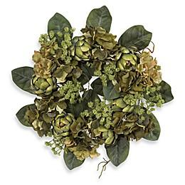 Nearly Natural 18-Inch Artichoke Wreath