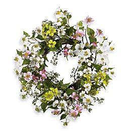 Nearly Natural 20-Inch Dogwood Wreath