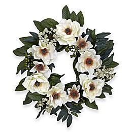 Nearly Natural 22-Inch Magnolia Wreath