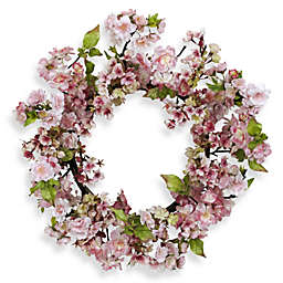 Nearly Natural 24-Inch Cherry Blossom Wreath