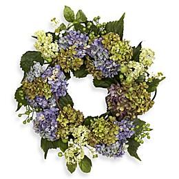 Nearly Natural 16-Inch Hydrangea Wreath