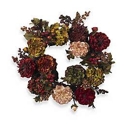 Nearly Natural 22-Inch Hydrangea Peony Wreath