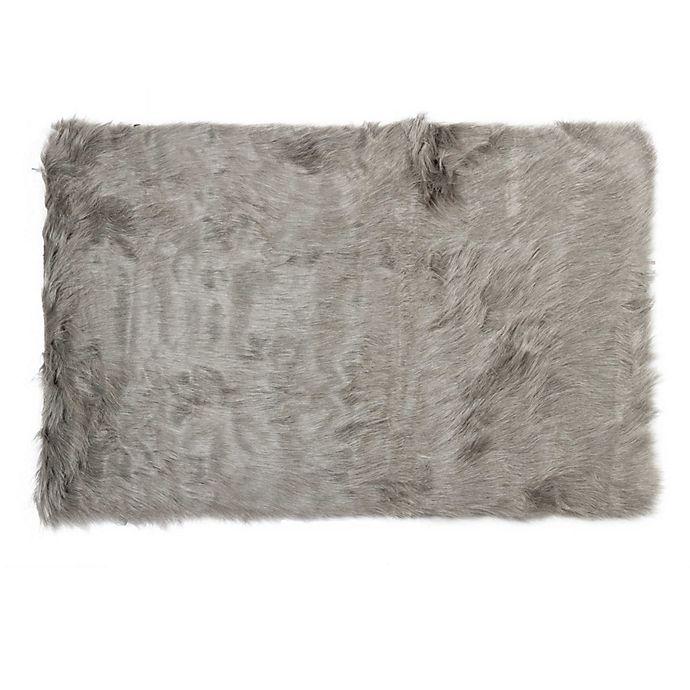 Luxe Hudson Faux Fur Sheepskin 3 X 5 Shag Rug Bed Bath Beyond