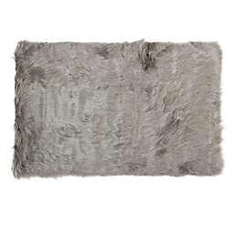 Luxe Hudson Faux Fur Sheepskin 3' x 5' Shag Rug