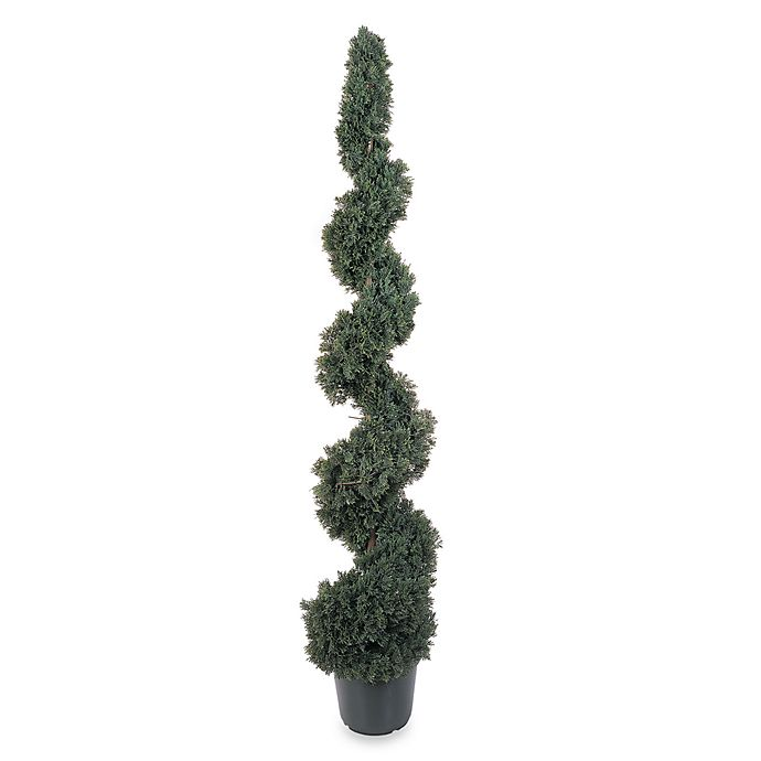 Alternate image 1 for Nearly Natural 5-Foot Cedar Spiral Silk Tree