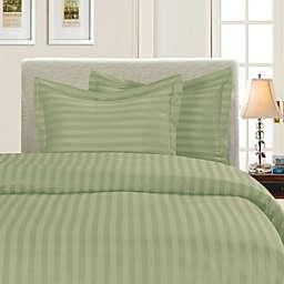 Elegant Comfort Dobby Stripe Reversible Duvet Cover Set