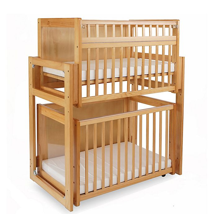 Alternate image 1 for LA Baby® 3-Piece Space Saving Modular Window Crib System in Natural